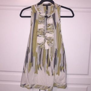 BCBG Max Azria pleated top with pockets